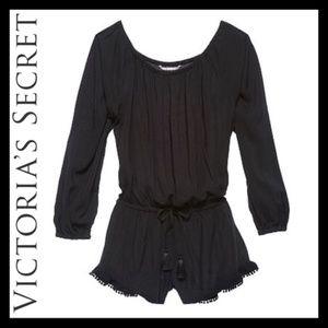 Victoria's Secret Long-sleeve Swim Coverup Romper